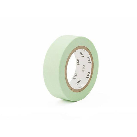 Mt Masking Tape - Pastel Green - 15 mm x 10 m - Washi Tape - bunbougu.com.au