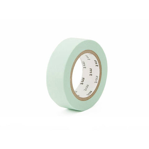 Mt Masking Tape - Pastel Mint - 15 mm x 10 m - Washi Tape - bunbougu.com.au