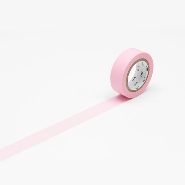 Mt Masking Tape - Pastel Rose Pink - 15 mm x 10 m - Washi Tape - bunbougu.com.au