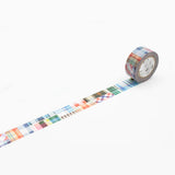 Mt Masking Tape - Patchwork - 20 mm x 10 m - Washi Tape - bunbougu.com.au