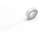 Mt Masking Tape - Silver Grid - 15 mm x 10 m - Washi Tape - bunbougu.com.au