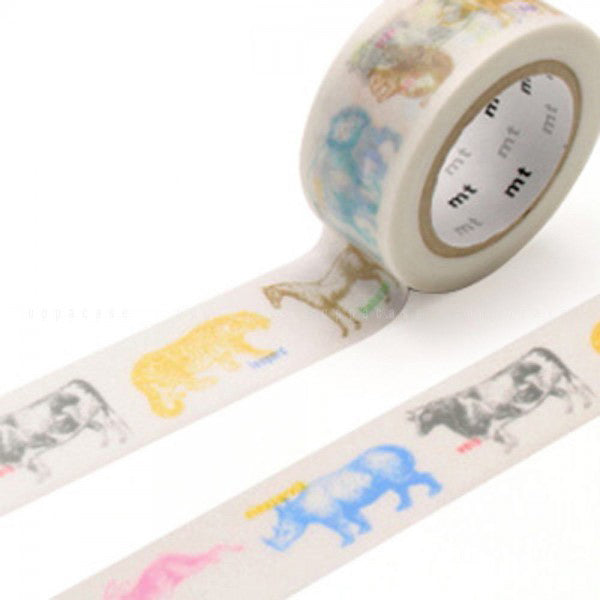 Mt Masking Tape Ex Series - Animals - 20 mm x 10 m - Washi Tape - bunbougu.com.au