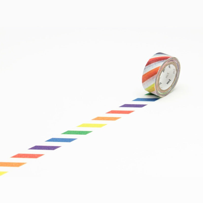 Mt Masking Tape - Colorful Stripes - 15 mm x 7 m - Washi Tape - bunbougu.com.au