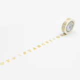 Mt Masking Tape Ex Series - Golden Alphabets - 15 mm x 10 m - Washi Tapes - bunbougu.com.au