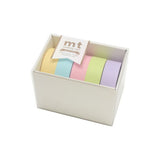 Mt Masking Tape Gift Box - 5 Pastel Colours - 15 mm x 10 m - Washi Tapes - bunbougu.com.au