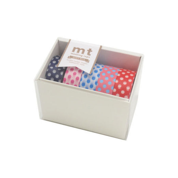 Mt Masking Tape Gift Box - 5 Pop Colours - 15 mm x 10 m