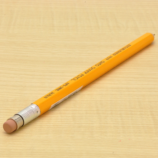 Ohto Wooden Mechanical Pencil - Mustard Yellow - 0.5 mm