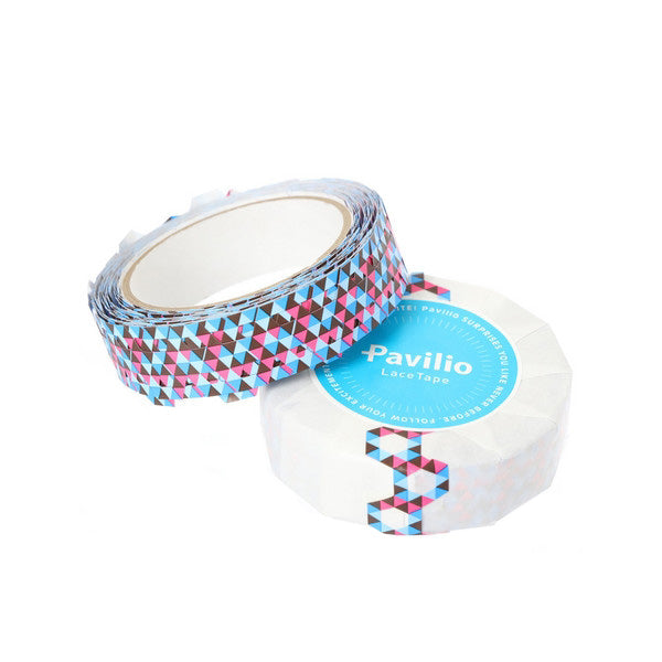 Pavilio Lace Tape - Honeycomb Blue - 10 mm - Washi Tape - bunbougu.com.au