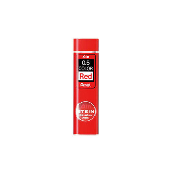 Pentel Ain Stein Lead - Red - 0.5 mm
