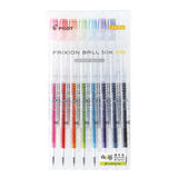 Pilot FriXion Ball Slim Gel Pen - Clear Body Version - 8 Colour Set - 0.38 mm