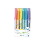 Pilot FriXion Soft Colour Erasable Highlighter - 6 Colors Set - Highlighters - bunbougu.com.au
