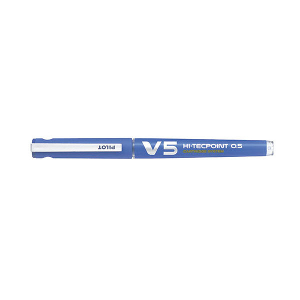 Pilot V5 Hi-Tecpoint Cartridge System Rollerball Pen - Refillable - 0.5 mm - Rollerball Pens - bunbougu.com.au
