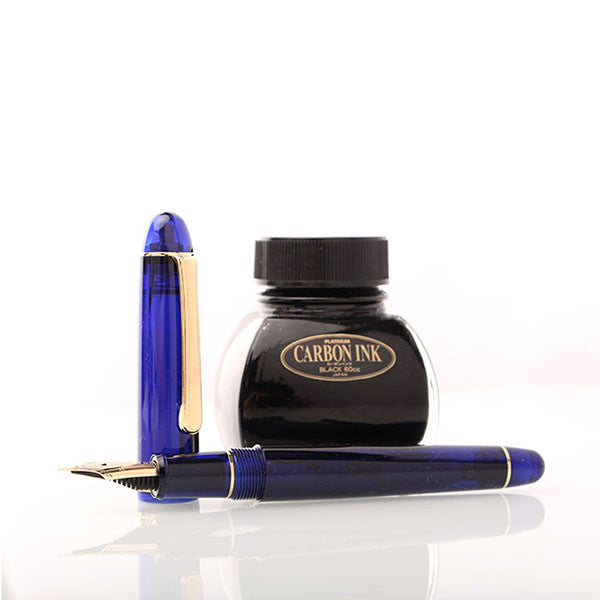 Platinum #3776 Century Fountain Pen - Chartres Blue - Medium Nib - Fountain Pens - bunbougu.com.au