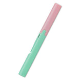 Plus Pen Style Compact Twiggy Scissors - Coral Pink X Milky Green - Scissors - bunbougu.com.au