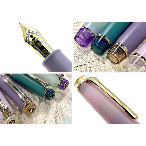 Sailor Pro Gear Shikiori Rain Sound 21K Gold Fountain Pen - Lilac - Medium Fine Nib