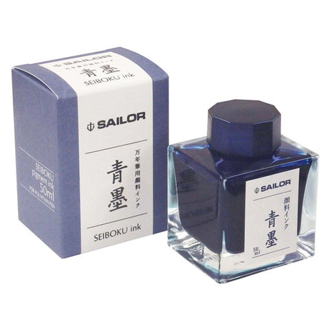 Sailor Nano Ink -  Sei-boku (Blue Black) - 50ml