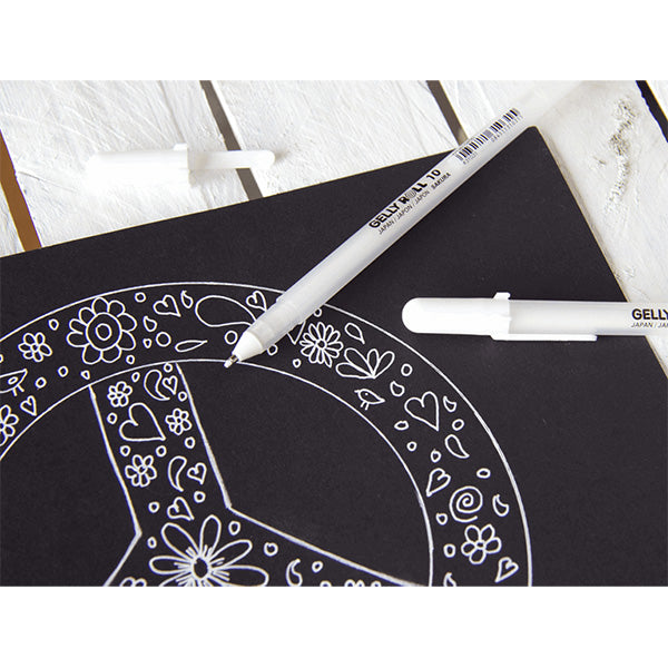 Sakura Gelly Roll Classic Gel Pen - White Ink - 05 Fine Point - 0.3 mm