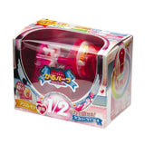 Sonic Half Skeleton Clear Hand Crank Pencil Sharpener - Pink - Pencil Sharpeners - bunbougu.com.au