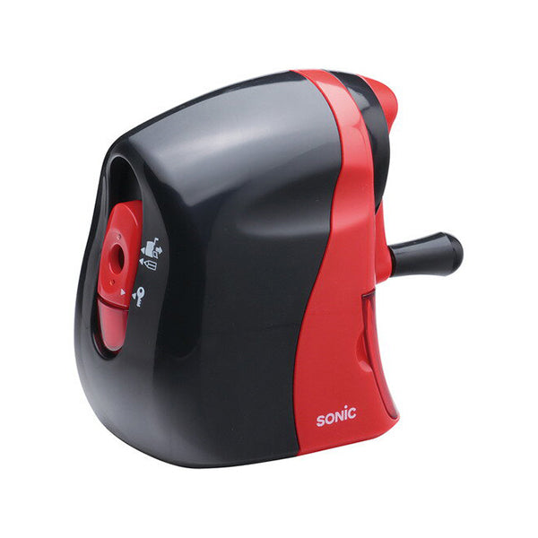 Sonic Karu-half Hand Crank Pencil Sharpener - Black