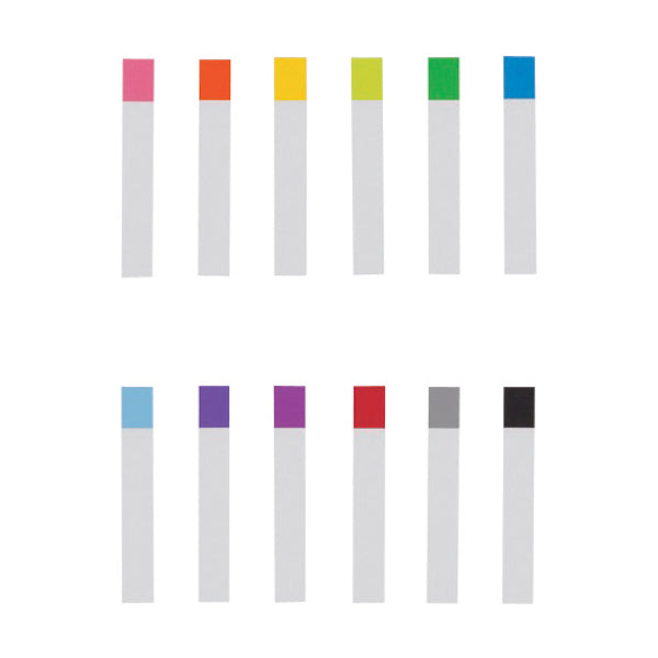 Stalogy Thin Page Markers - 12 Colors