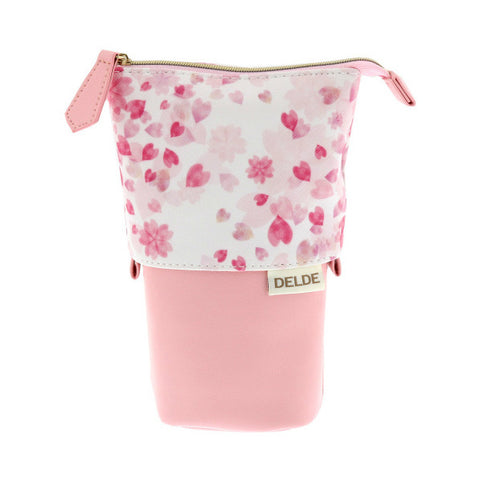 Sun-Star Delde Slide Limited Edition Pen Pouch - Happy Fleur - Blush