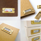 TRAVELER'S COMPANY Brass Label Plates - Set of 6 - Notebook Accessories - bunbougu.com.au