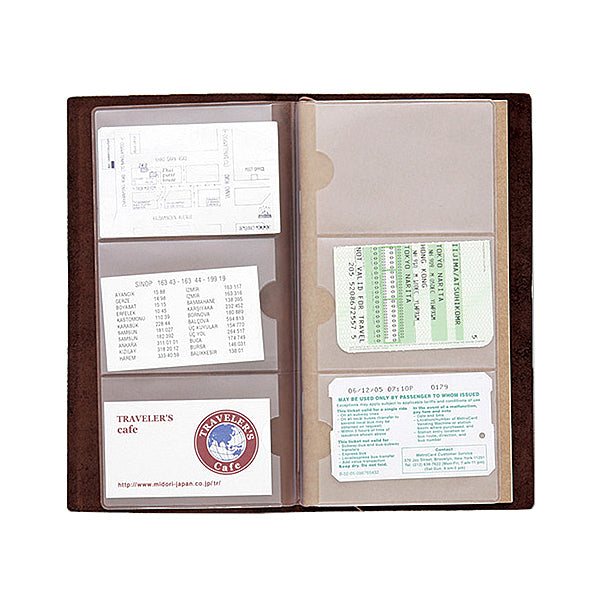 Traveler's Company Traveler's Notebook Accessories 007 - Card File - Regular Size