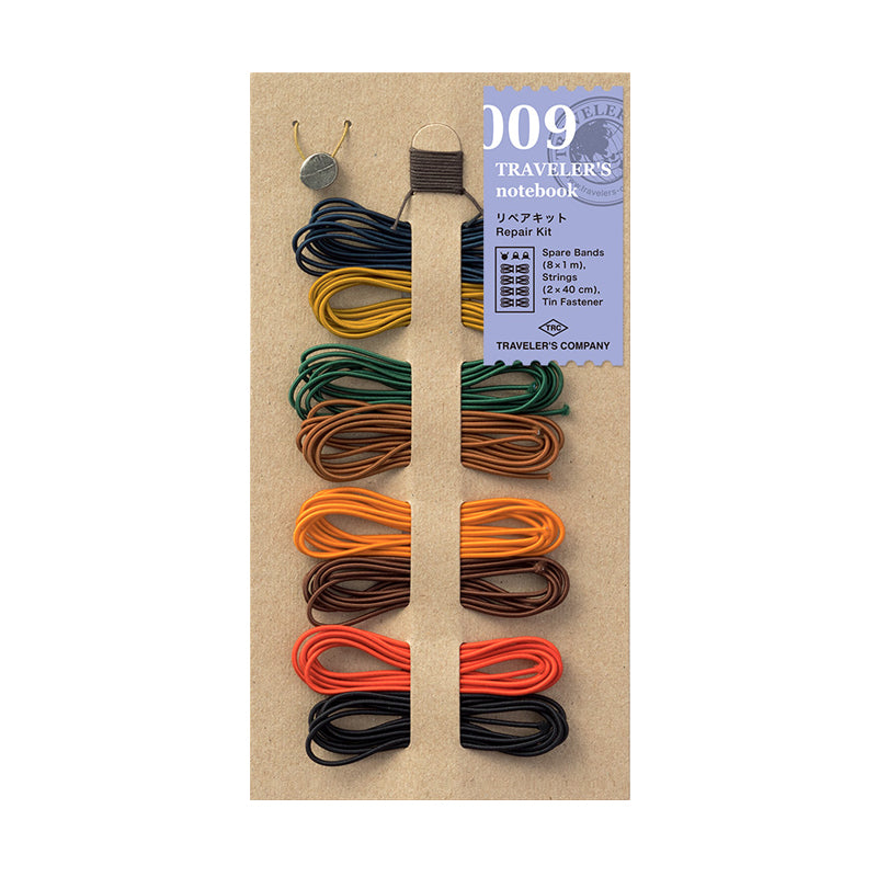 Traveler's Company Traveler's Notebook Accessories 009 - Repair Kit - 8 Bands