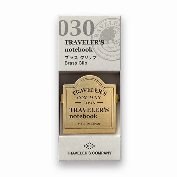 Traveler's Company Traveler's Notebook Accessories 030 - Brass Clip - TRC Logo