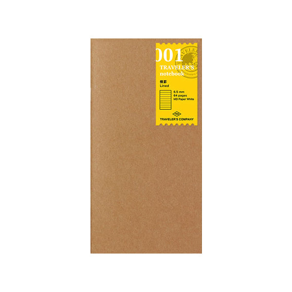 Traveler's Company Traveler's Notebook Refill 001 - Lined - Regular Size