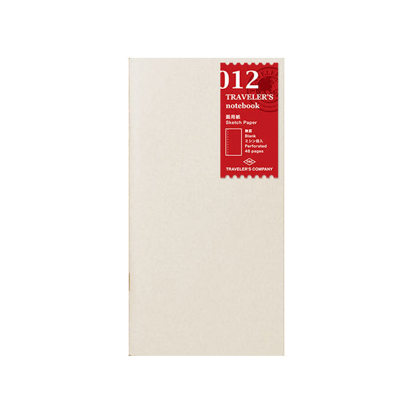 Traveler's Company Traveler's Notebook Refill 012 - Sketch Paper - Regular Size