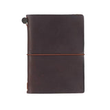 TRAVELER'S COMPANY TRAVELER'S Notebook Starter Kit - Brown Leather - Passport Size - Notebooks - bunbougu.com.au