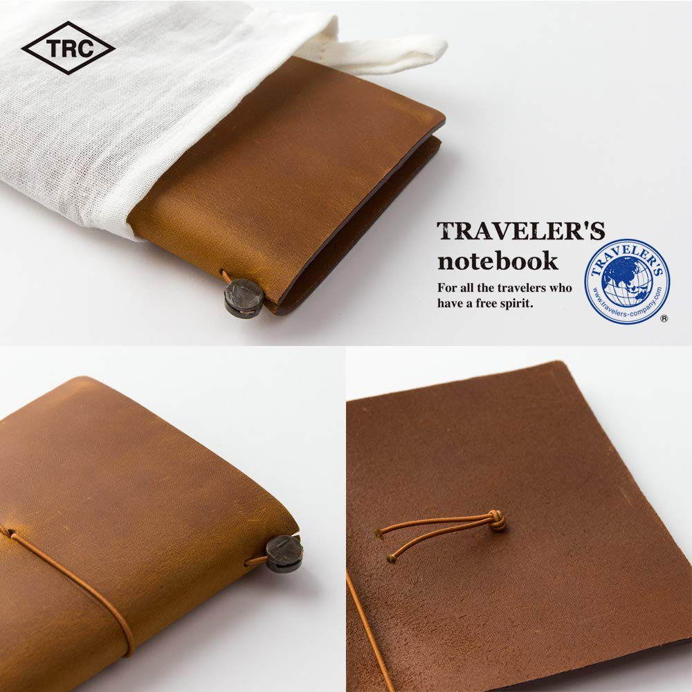 Traveler's Company Traveler's Notebook Starter Kit - Camel Leather - Passport Size