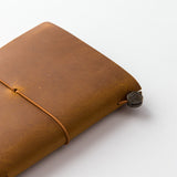 TRAVELER'S COMPANY TRAVELER'S Notebook Starter Kit - Camel Leather - Passport Size - Notebooks - bunbougu.com.au