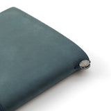 TRAVELER'S COMPANY TRAVELER'S Notebook Starter Kit - Regular Size - Blue Leather - Notebooks - bunbougu.com.au