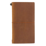TRAVELER'S COMPANY TRAVELER'S Notebook Starter Kit - Camel Leather - Regular Size - Notebooks - bunbougu.com.au