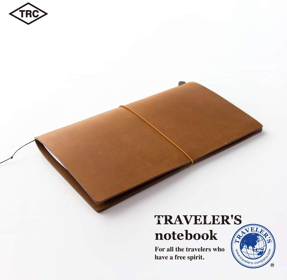 Traveler's Company Traveler's Notebook Starter Kit - Camel Leather - Regular Size