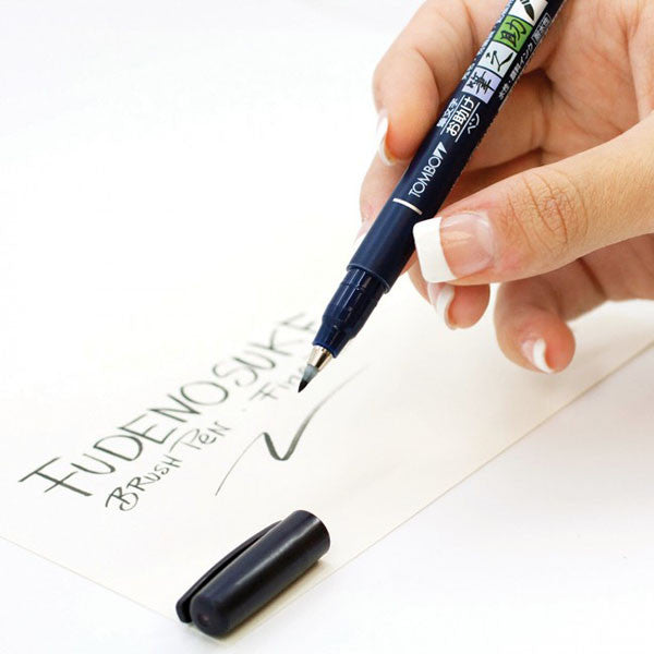 Tombow Fudenosuke Brush Pen - Hard Tip - Black Ink