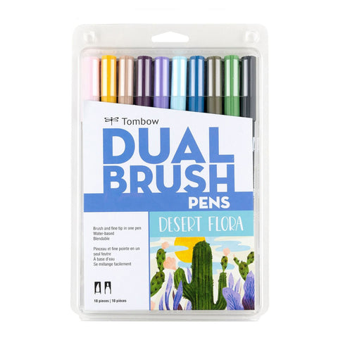 Tombow ABT Dual Brush Pen - 10 Colour Set - Desert Flora