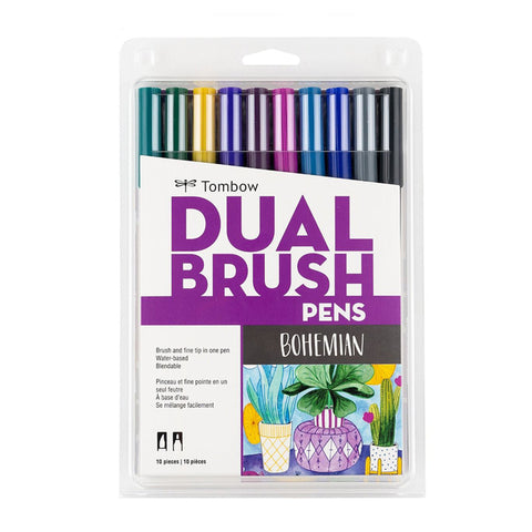 Tombow ABT Dual Brush Pen - 10 Colour Set - Bohemian