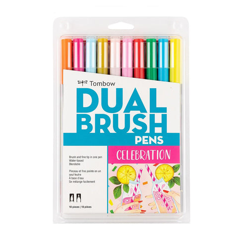 Tombow ABT Dual Brush Pen - 10 Colour Set - Celebration