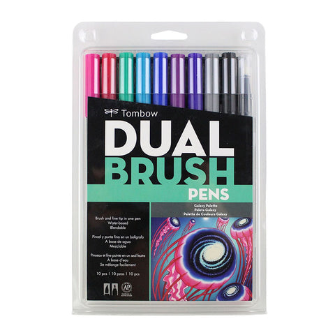 Tombow Dual Brush Pen - 10 Color Set - Galaxy