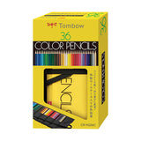 Tombow Color Pencil Set - 36 Color Set with Tombow Pencil Pouch - Wooden Pencils - bunbougu.com.au
