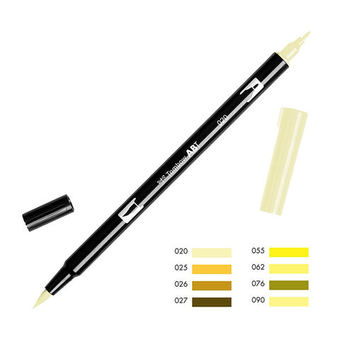 Tombow Dual Brush Pen - Yellow Color Range (020 - 090)