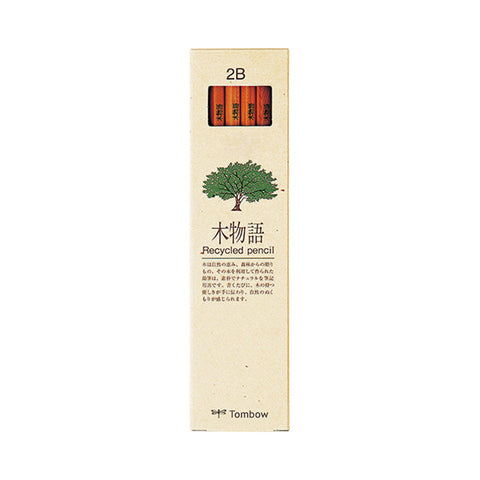 Tombow 木物语 Recycled Wooden Pencil - 12 Packs Set - 2B