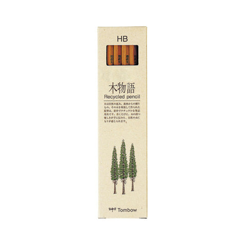Tombow 木物语 Recycled Wooden Pencil - 12 Packs Set - HB - Wooden Pencils - bunbougu.com.au