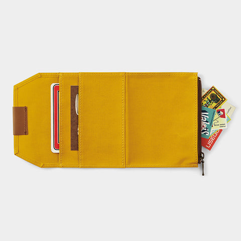 Traveler's Company B-Sides & Rarities - Cotton Zipper Case - Mustard - Passport Size