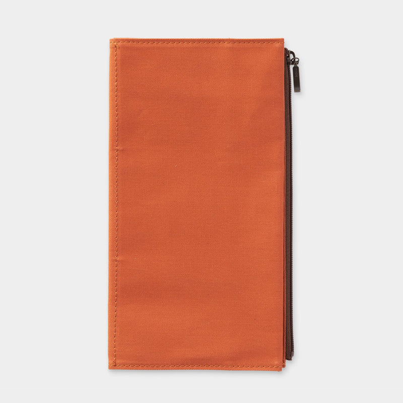 Traveler's Company B-Sides & Rarities - Cotton Zipper Case - Orange - Regular Size