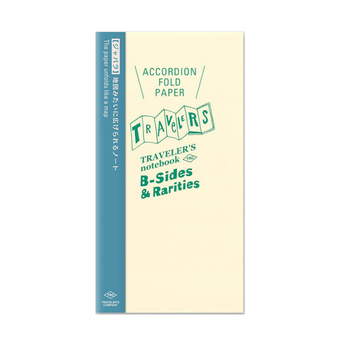 Traveler's Company B-Sides & Rarities - Traveler's Notebook Refill - Accordion-Fold Paper - Regular Size