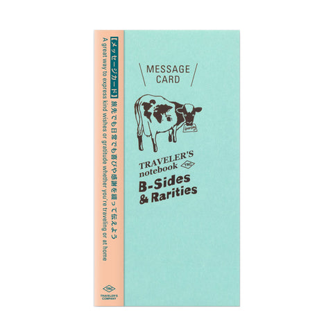 Traveler's Company B-Sides & Rarities - Traveler's Notebook Refill - Message Card - Regular Size